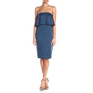 NWT🌻 Cynthia Rowley Indigo Strapless Sheath Dress